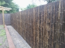zwarte bamboe schutting